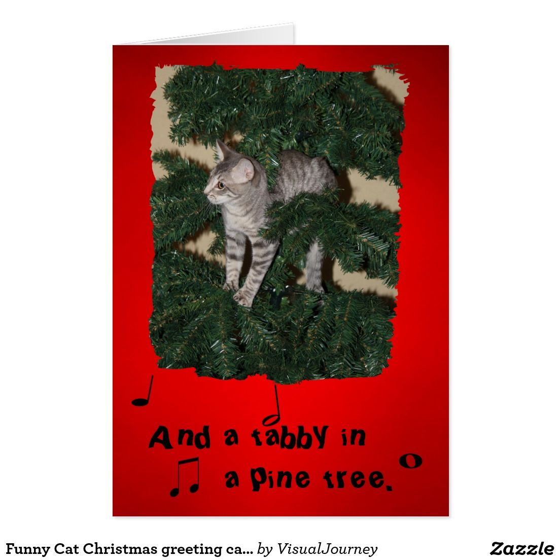 Funny cat christmas greeting card stuff sold on zazzle pinterest funny cat christmas greeting card m4hsunfo