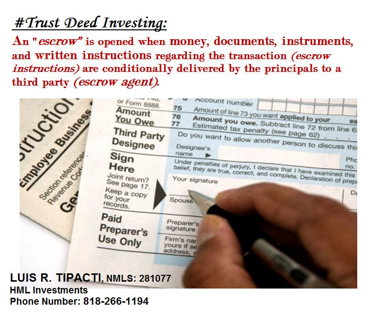 TrustDeedInvesting Escrow process involving the funding of the loan - demand promissory note