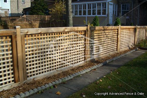 Chicago Wood Fences Lattice Fence Fence Design
