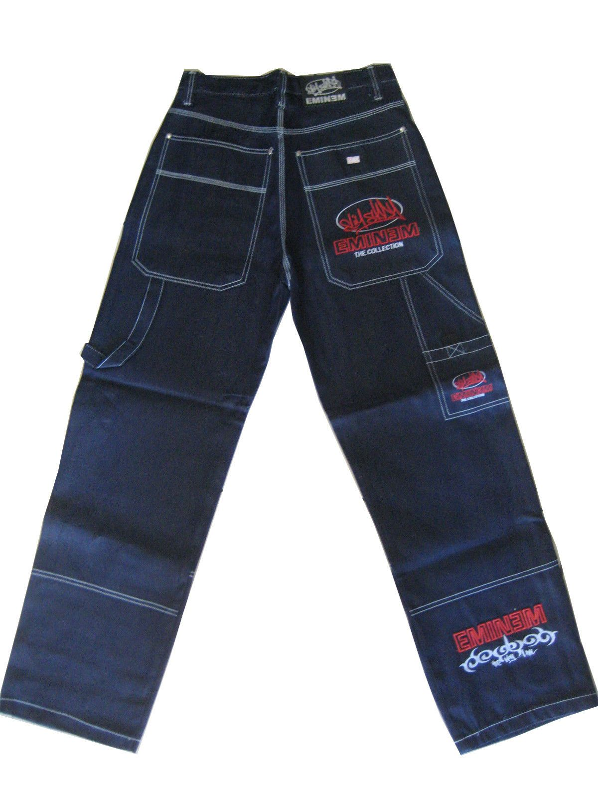 Eminem Pants : eminem, pants, EMINEM, -=BLUE=-, Baggy, Loose, Jeans, Pants, Cargo, Jeans,, Sagging, Pants,