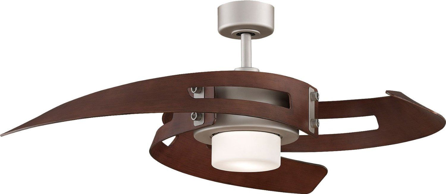 Fanimation Avaston Fan, Satin Nickel (master bedroom)