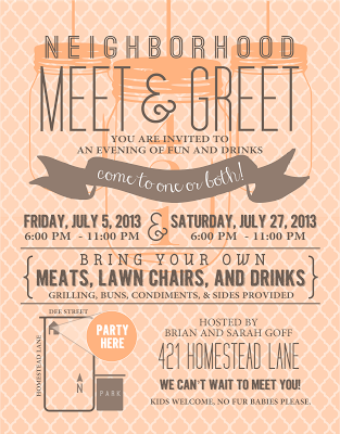 meet and greet invitations samples