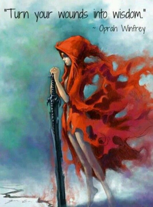 Turn Your Words Into Wisdom Opray Winfrey Red Riding Hood Art