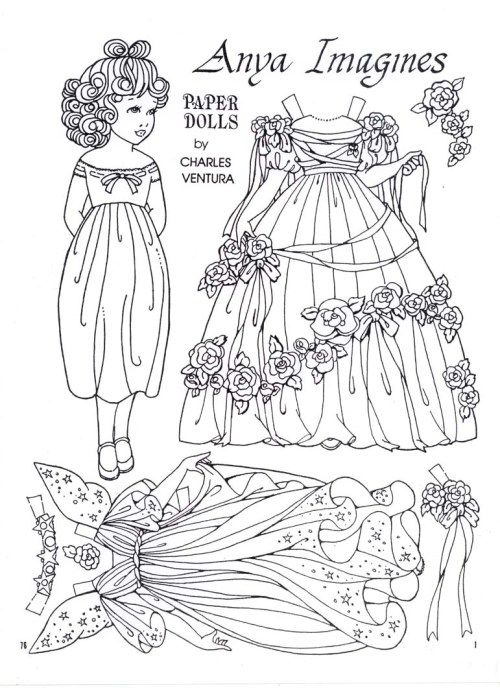 ANYA IMAGINES – A paper doll by Charles Ventura