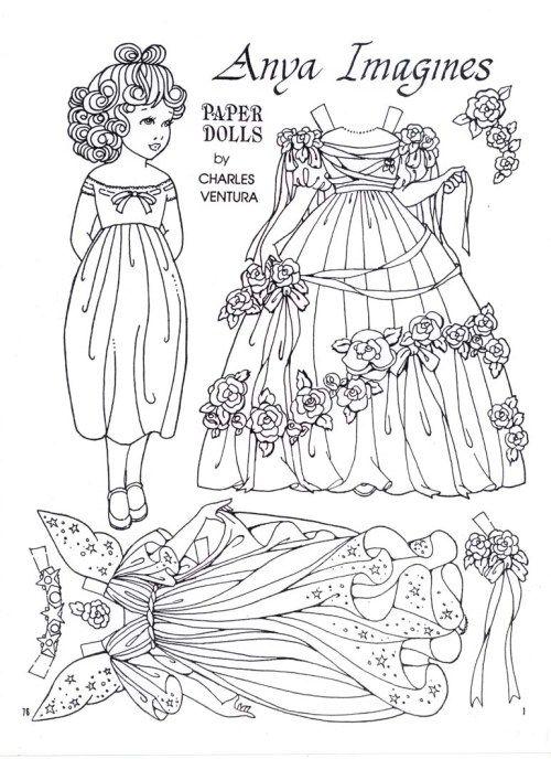 Anya Imagines A Paper Doll By Charles Ventura Paper Dolls Vintage Paper Dolls Paper Dolls Printable