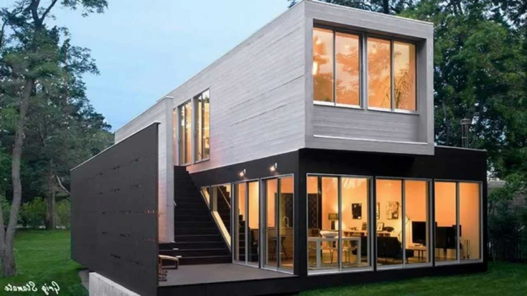 Almost Luxury Shipping Container Homes Youtube Pertaining