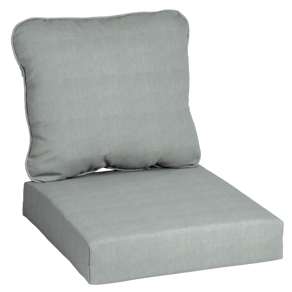 Hampton Bay Cushionguard Pewter 2 Piece Deep Seating Outdoor