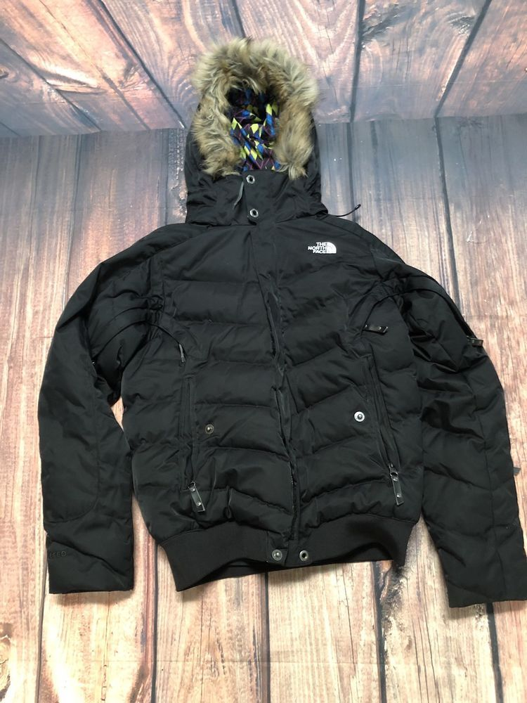 39ca741eed North Face Recco 600 Avalanche Rescue Reflector Puffer Goose Down Coat BLK  Sz 6