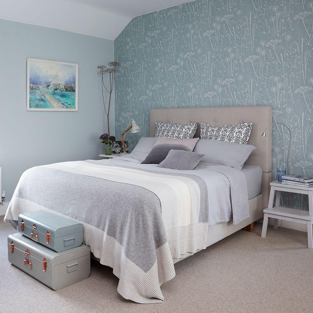 morris rugs chrysanthemum china blue feature wallpaper gray morris rugs chrysanthemum china blue teal wallpaperfeature wallpaperfeminine bedroombedroom