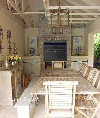 Mix of more formal elements to add chic  casual area built in braai also eindproduk idees pinterest patio house and indoor rh