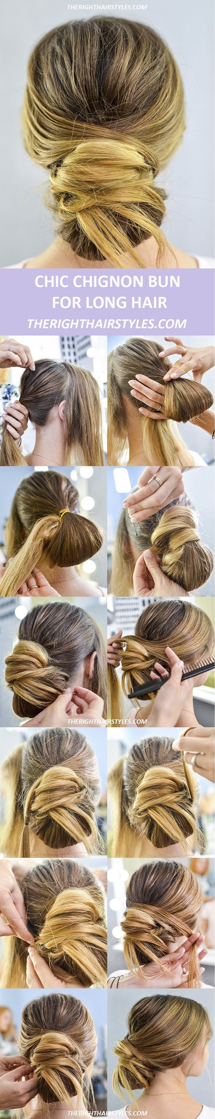 Now make a chic chignon in easy steps band aid bun hairstyle