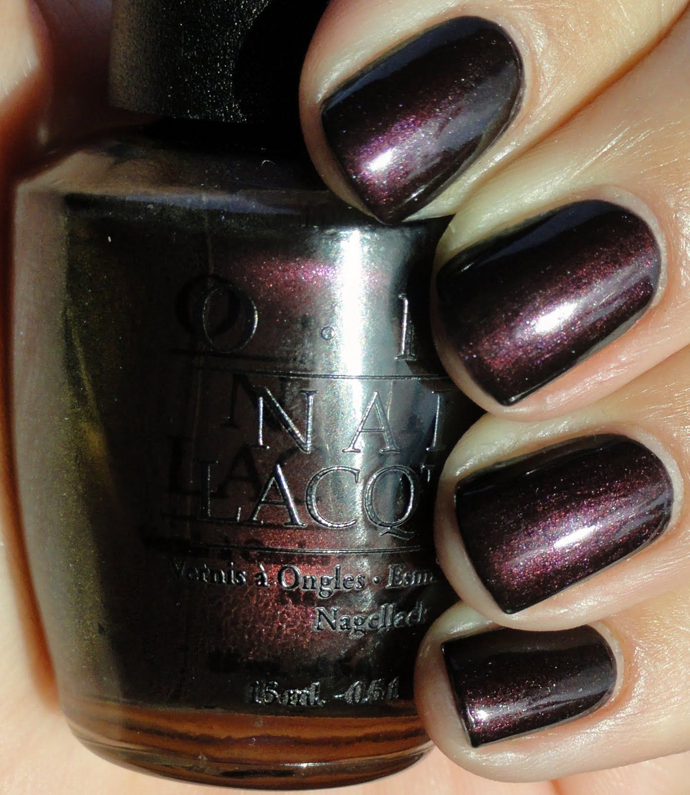 What Color Nail Polish With A Black Dress: Best OPI Color Ever. Black Tie Optional.