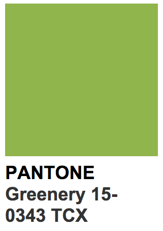 Pantone 15 0343 Tcx Greenery Spring 2017 Pantone