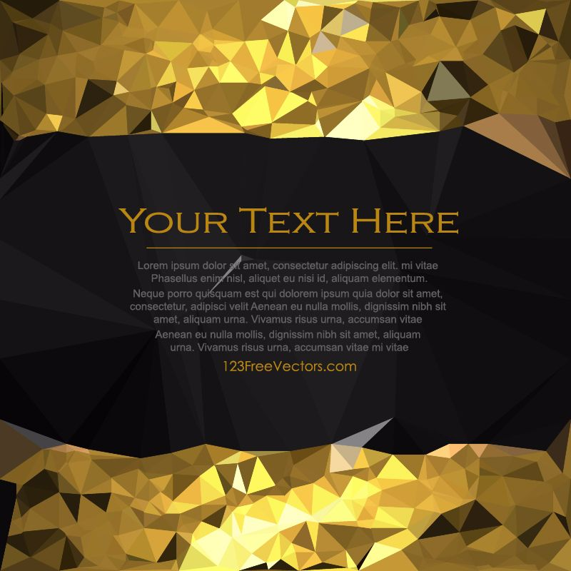 Free Cool Gold Low Poly Background Template Illustrator | Background ...