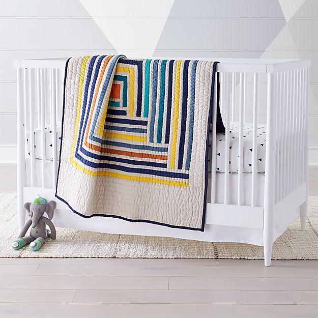 Suzy Quilts Campfire Modern Geometric Baby Quilt | inspiration ...