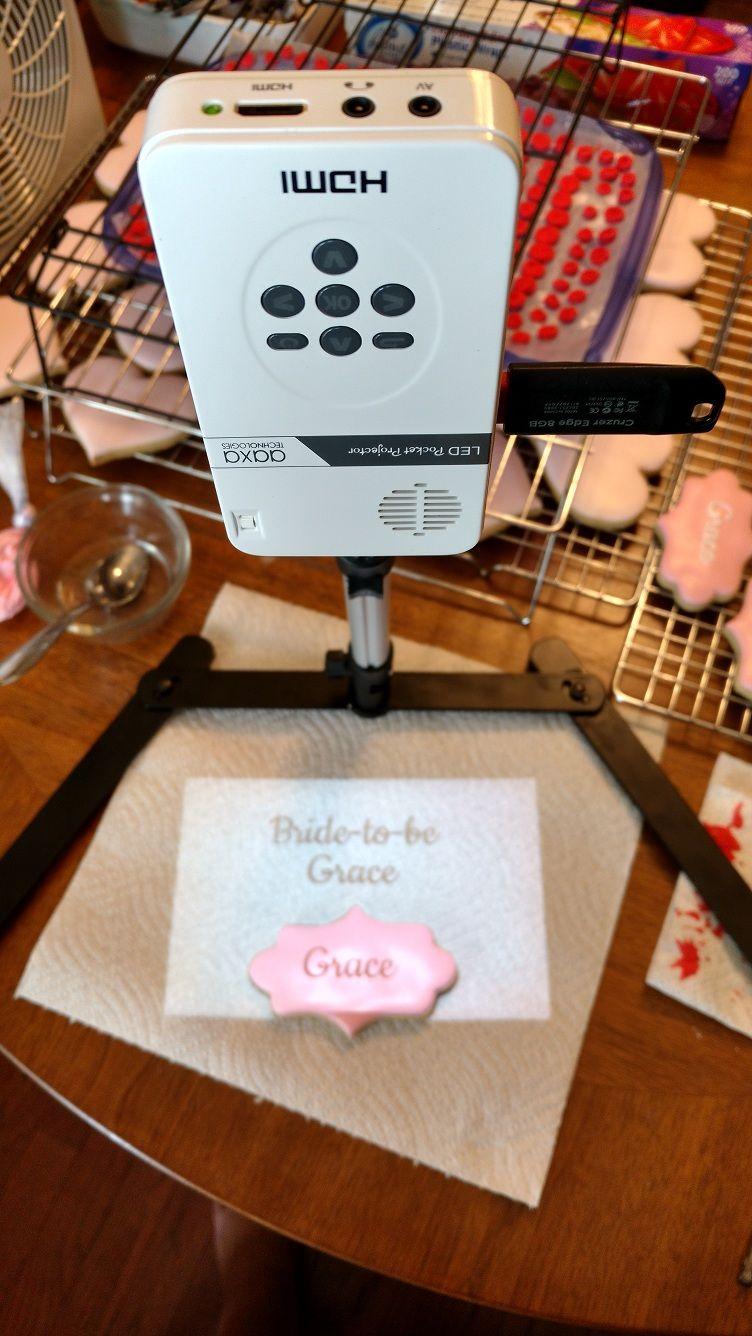 High Tech Bridal Shower Cookies