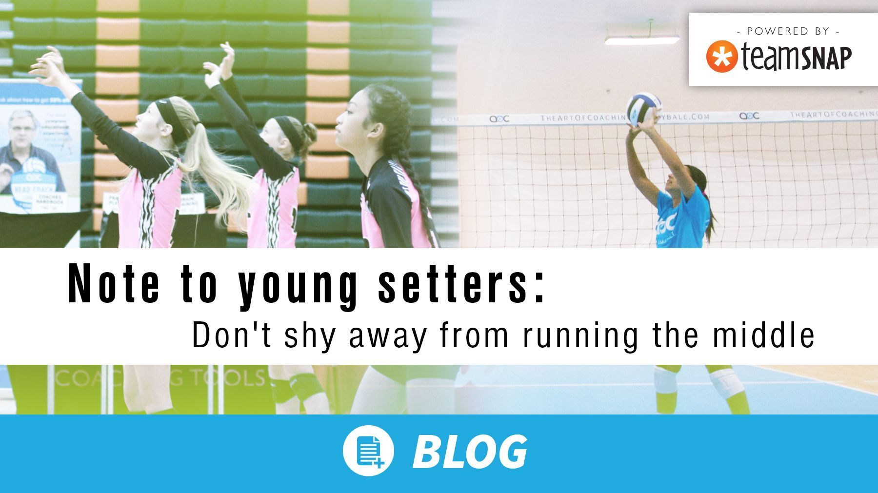 Note To Young Setters Don T Shy Away From Running The Middle Coaching Volleyball Youth Volleyball Coaching