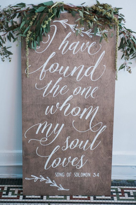 Items Similar To Wood Wedding Calligraphy Sign For Aisle Reception Party Decor