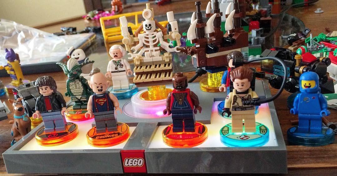 "@mellentuck på Instagram: ""Lego dimensions 80's edition  #80s #legodimensions #ghostbusters #goonies"""