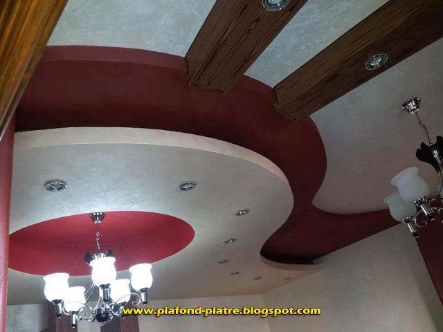 Faux Plafond en plâtre suspendu Moderne faux plafond Pinterest