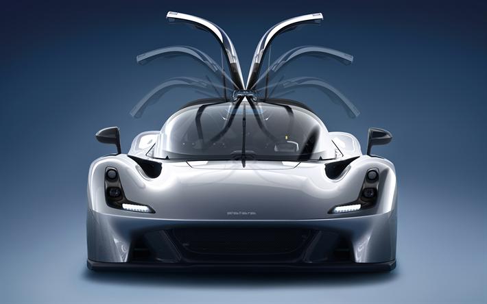 Herunterladen Hintergrundbild Dallara Straßen  , 4k  , Sportscars, 2018 Cars,  Studio,