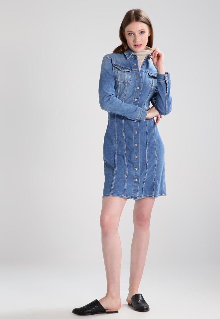 8a0745da9e Lee 70S DRESS - Jeanskleid - high stake blue - Zalando.at