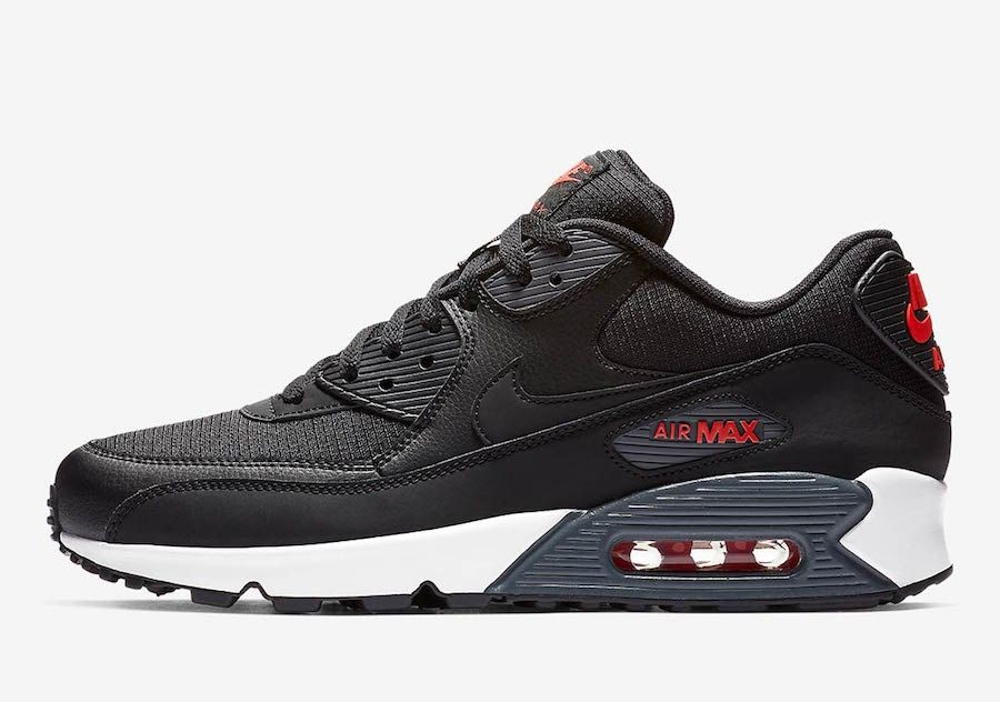 Nike Air Max 90 Black Habanero Red CD1526 001 Release Date