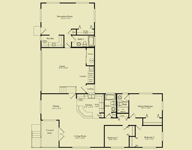 L shaped house plans no garage house pinterest house L shaped building floor plan