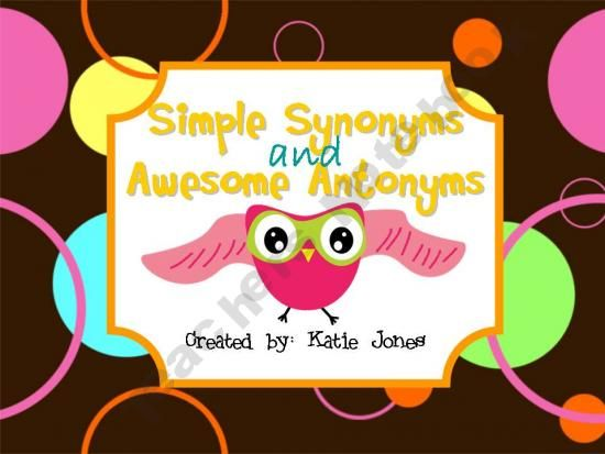simple synonyms and antonyms pdf