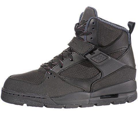 Kids Air Jordan Flight 45 Trek Black Black City Grey Shoes