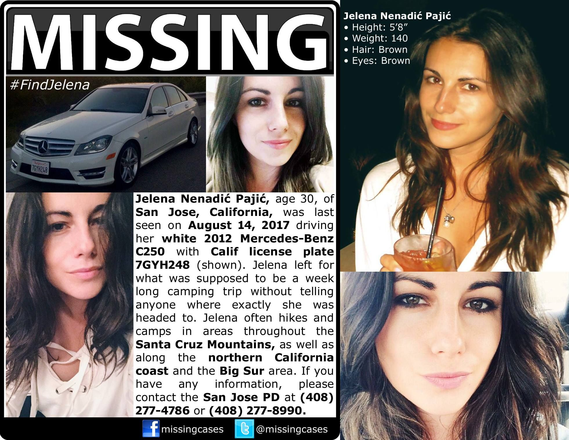Find Missing Jelena Nenadic Pajic! Amber alert, Looking