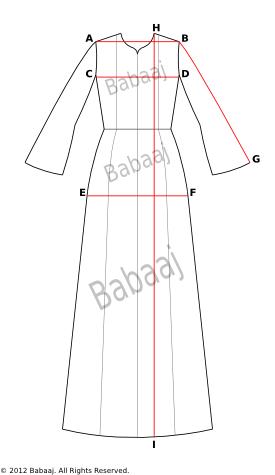 How to Measure Your Jubah Dress or Abaya | jubah | Pinterest ...