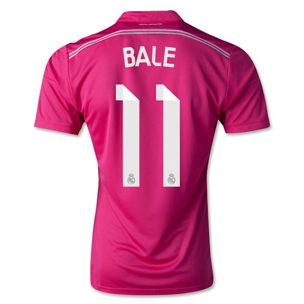 new concept 760e1 16490 Men's 2014/15 Real Madrid Gareth Bale 11 Pink Away Soccer ...