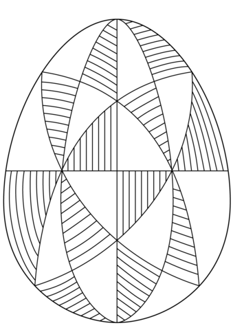 easter egg with abstract pattern coloring page  pattern coloring pages coloring pages free