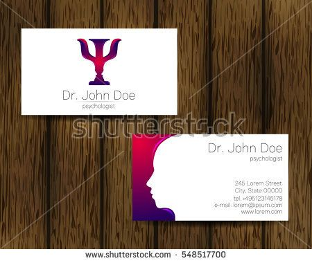 Psychology Vector Visit Card Modern Logo Creative Style Design Concept Brand Compa Psychology Business Card Psychotherapy Business Cards Business Card Logo