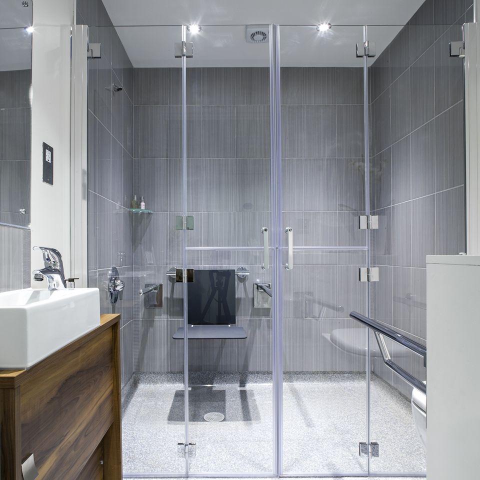 Bi-folding shower doors | Shower doors, Bathroom designs and Wet rooms
