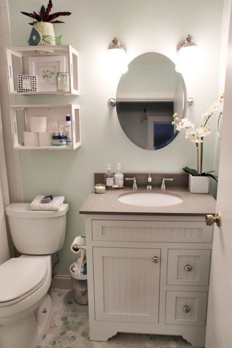 40 Comfy Farmhouse Bathroom Makeover Ideas Guest Bathroom Small Diy Bathroom Makeover Small Bathroom Diy