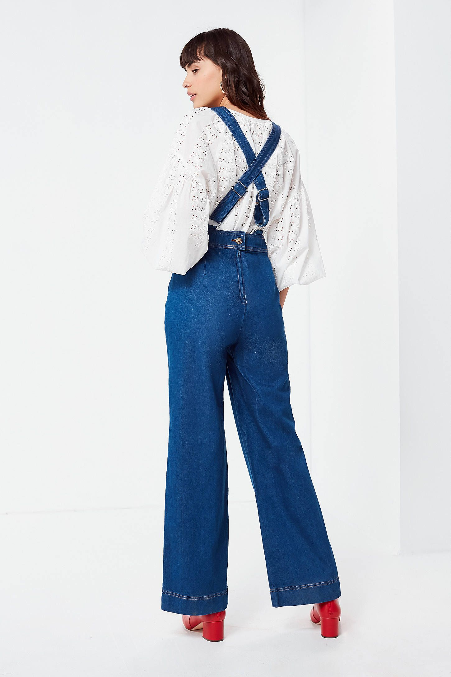 7fd99e269688 Shop UO Eleanor Plunging Denim Jumpsuit at Urban Outfitters today. We carry  all the latest styles