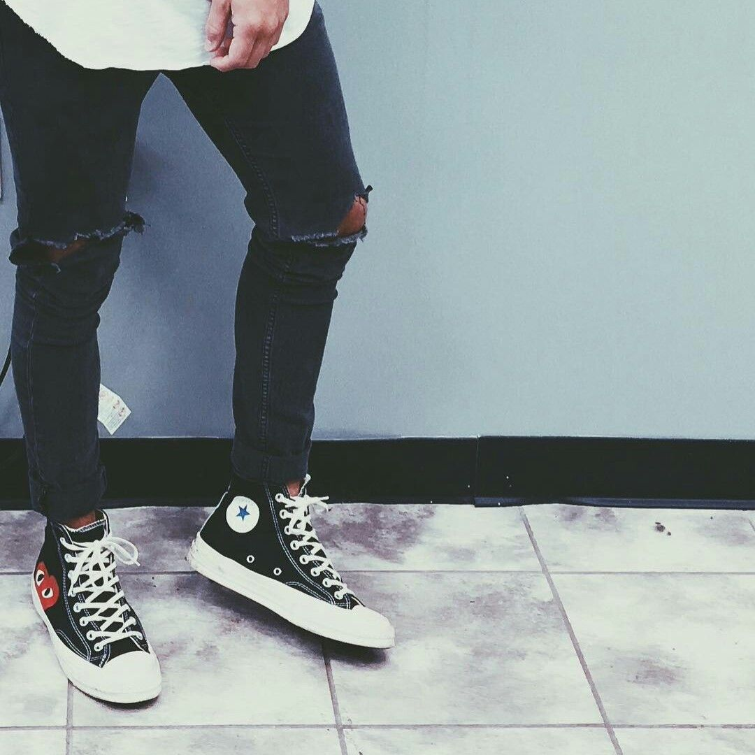 Converse Chuck Taylor All Star Comme Des Garcons Black Converse Outfits Mens Outfits Outfits With Converse