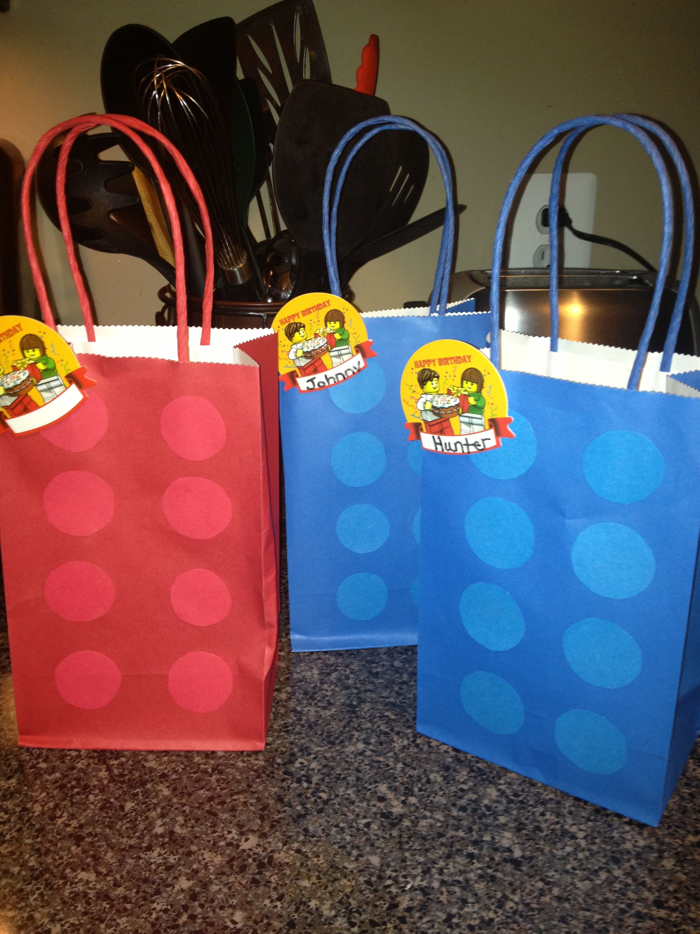 Lego Diy Loot Birthday Party Bags Easy Great Idea
