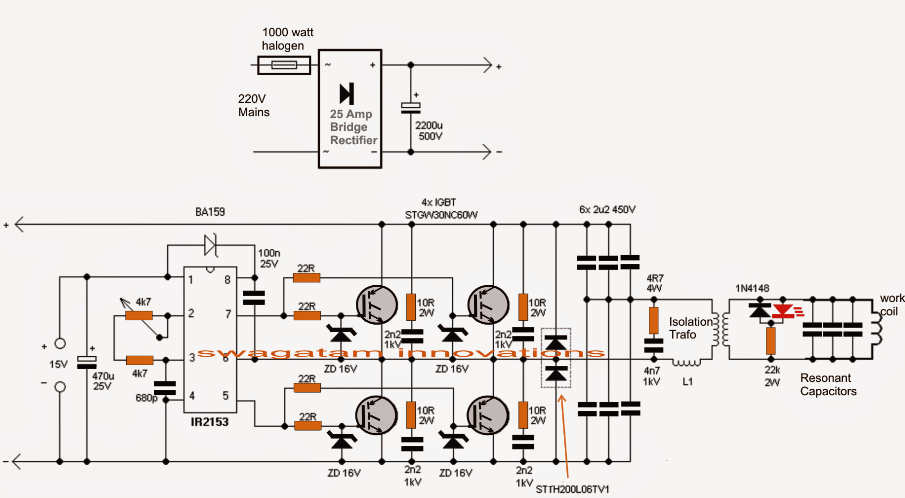 Induction Heater Circuit Using IGBT (Tested) | Induction ...