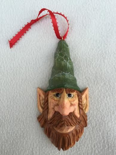 Hand Carved Elf Christmas Tree Ornament Wood by RWKWoodcarving Not  necessarily that face, but fun - Hand Carved Elf Christmas Tree Ornament Wood By RWKWoodcarving Not