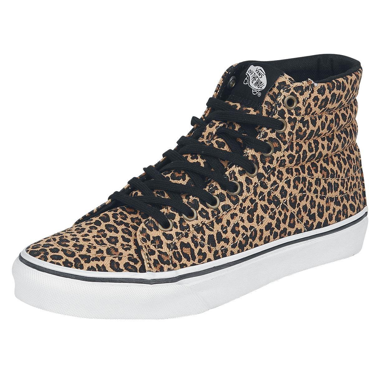 zapatillas vans negras y leopardo