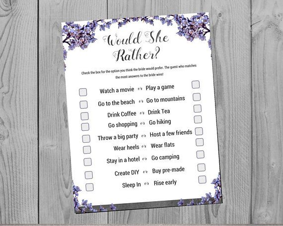 bridal shower would you rather game slate theme this bridal shower game is a fun way to test guests knowledge of the bride to be or help them get to