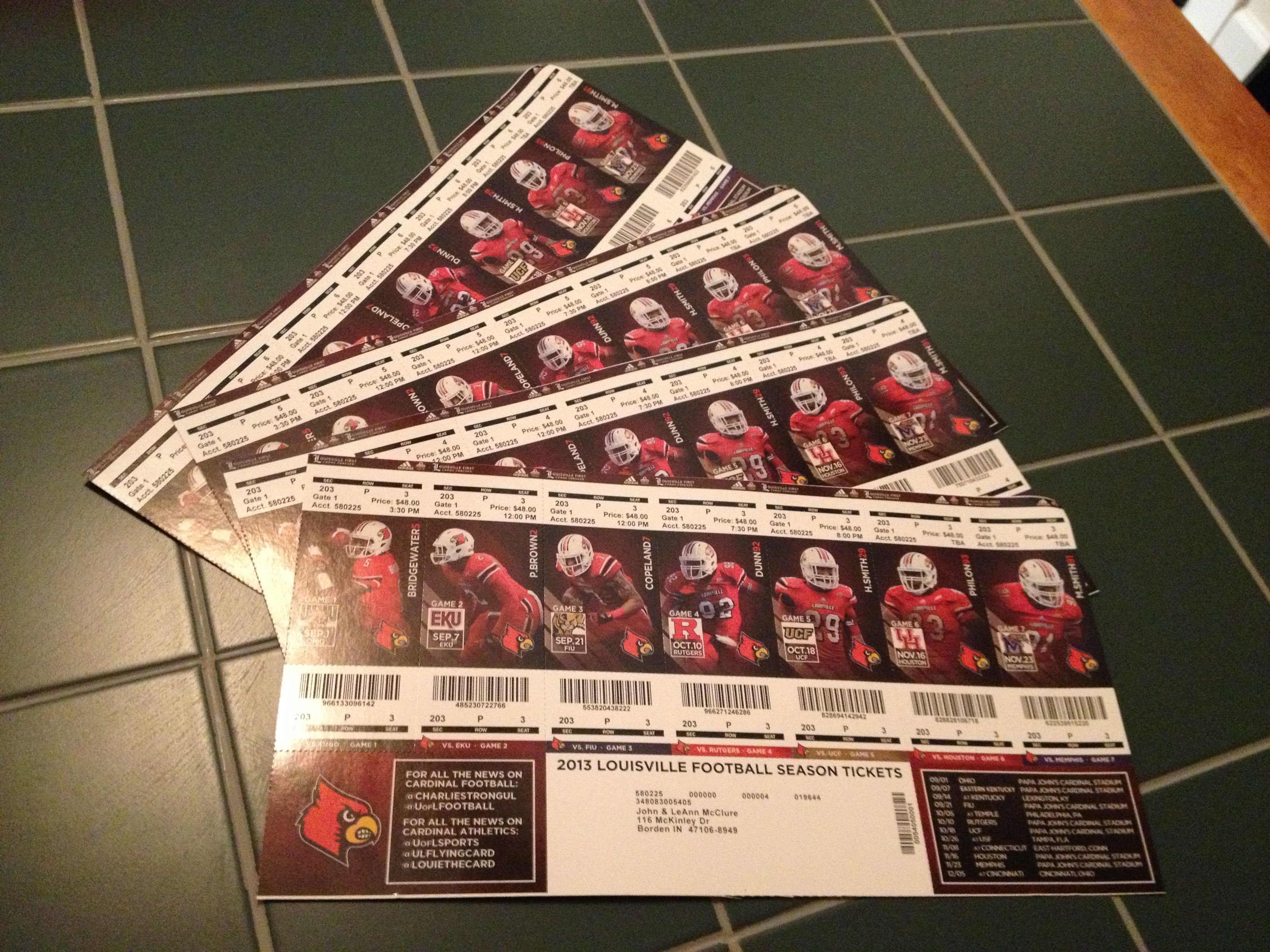 Season tickets have arrived, Go Cards! | Season ticket ...