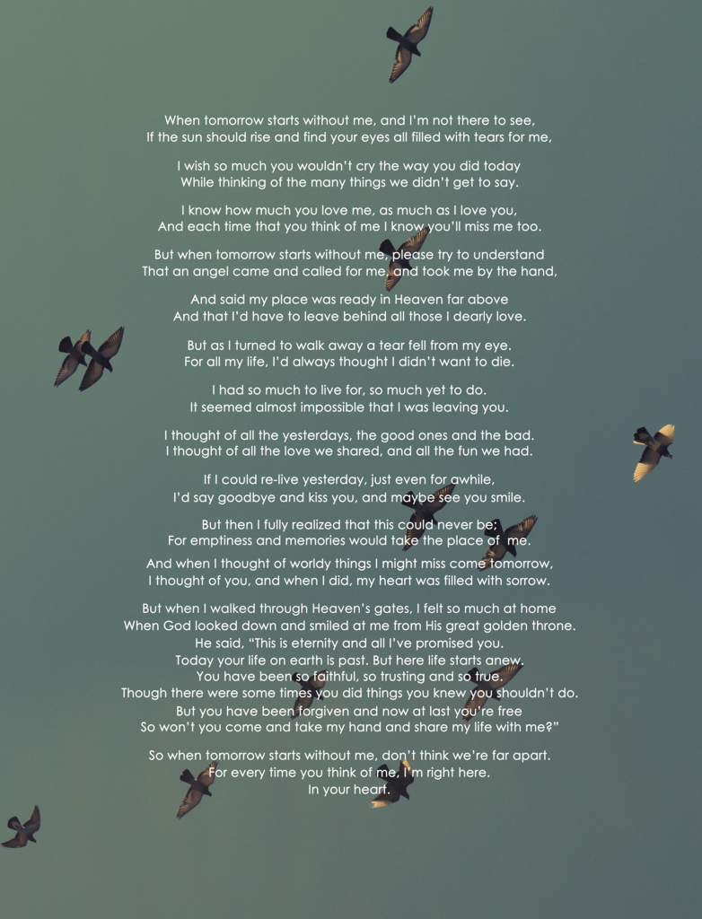 Memory Poem Poster | Show Courtney/Emily | Poems, Poems beautiful