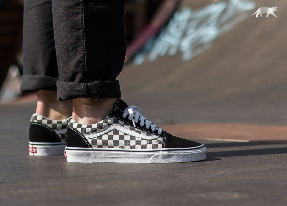 2f37a7af86 Vans Old Skool  Checkerboard  (Black   Espresso)