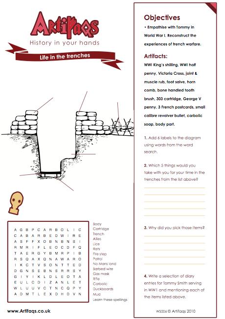 Trench, Warfare And World War On Pinterest | worksheet | Pinterest ...
