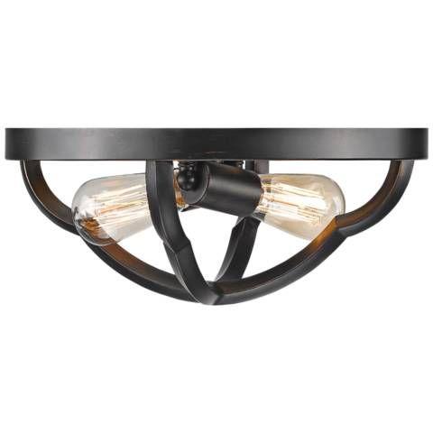 Best Lamps Plus Saxon 14 Wide Aged Bronze 2 Light Ceiling 400 x 300