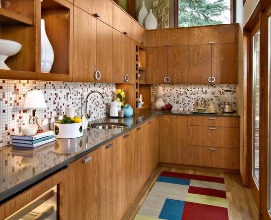 Ash veneer NC paint Kitchen Cabinet | Wood Veneer kitchen cabinets ...